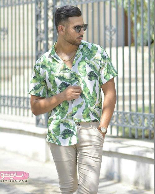 مدل پیراهن هاوایی مردانه فشن و لاکچری