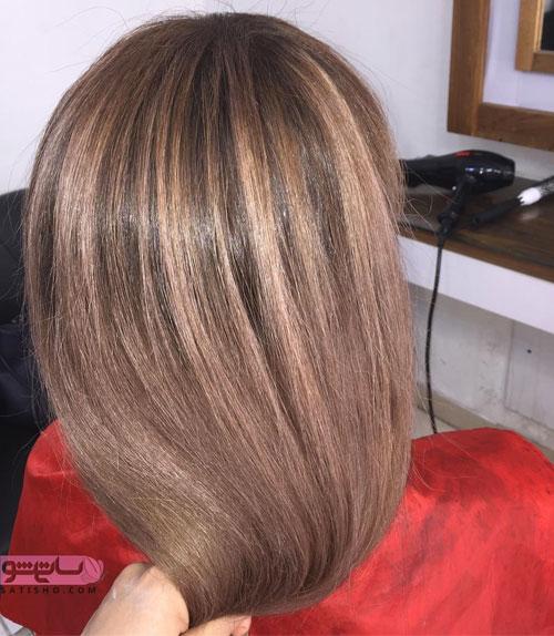 عکس مو رنگ شده شیک و زیبا سال 2019