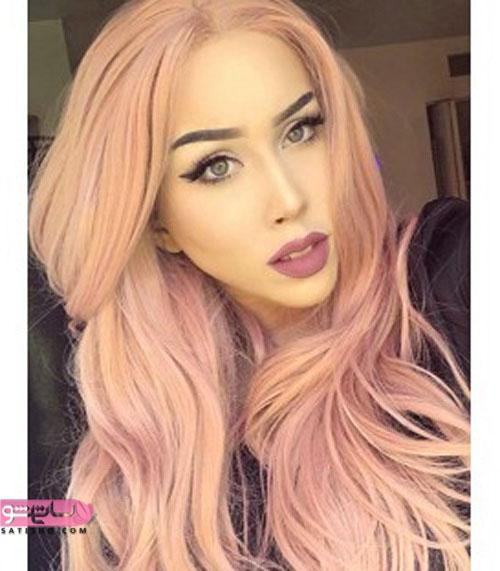 مدل رنگ موی بسیار خوشرنگ زنانه