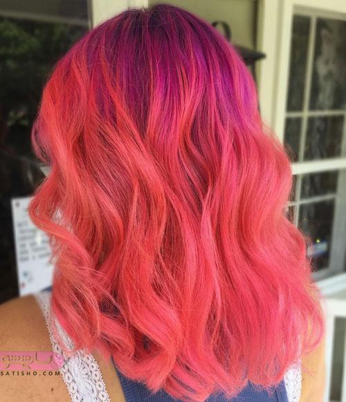 رنگ مو زنانه فانتزی روشن