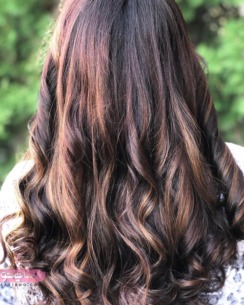 رنگ موی زیبا با پایه های مسی و شرابی 2019