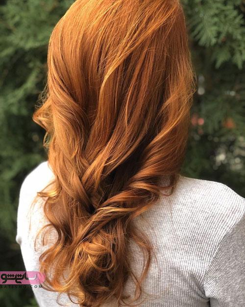 رنگ موی قهوه ایی روشن زیبا 2019