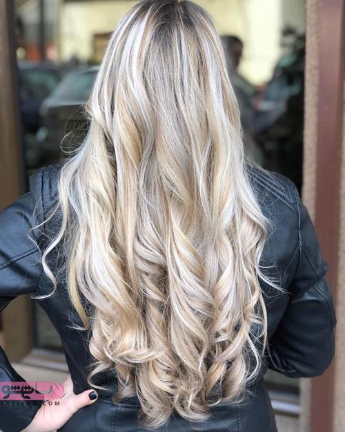 رنگ موی زیبا مناسب موهای بلند