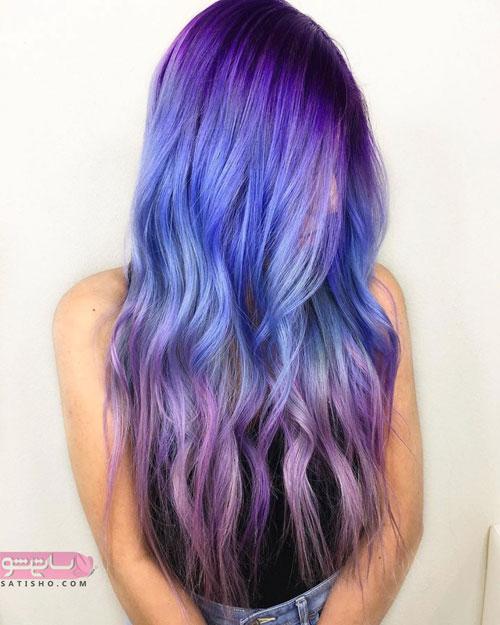 رنگ مو ترکیبی بسیار زیبا 98