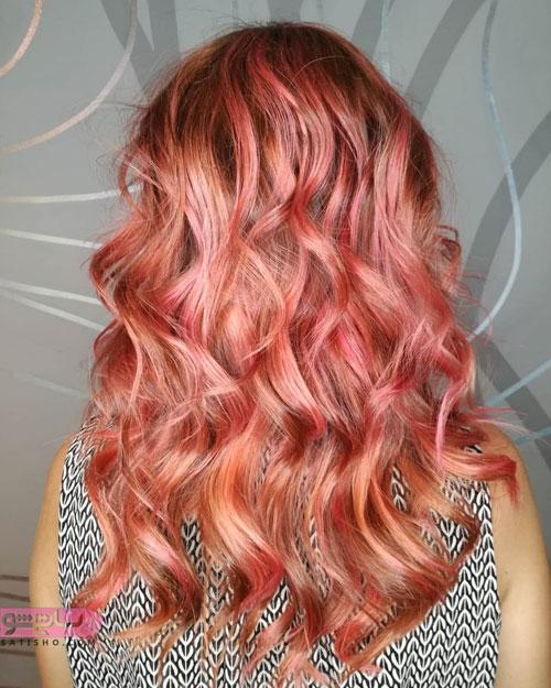 رنگ موی شرابی زیبا 98 - 2019