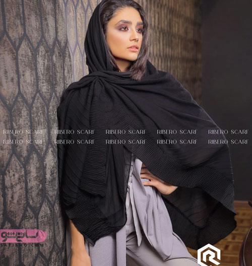 مدل شال و روسری سیاه محرم