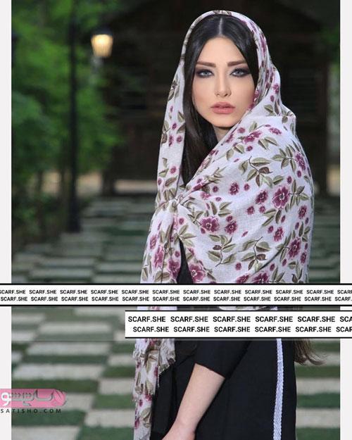 شیک ترین روسری دخترانه گل ریز