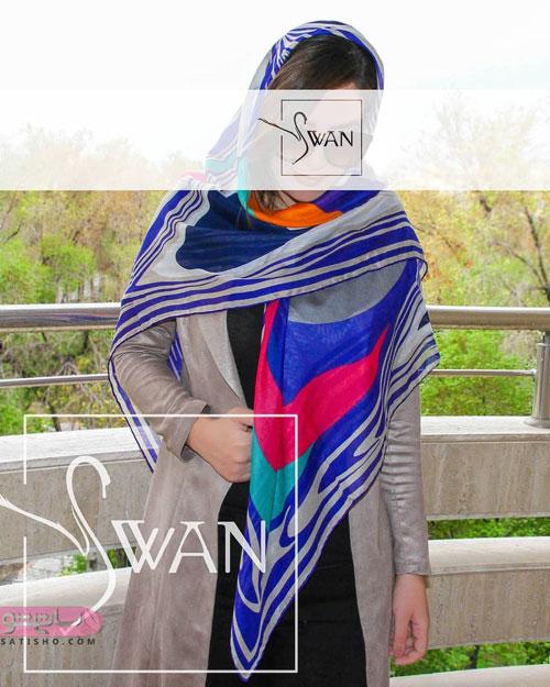 مدل شال و روسری رنگی