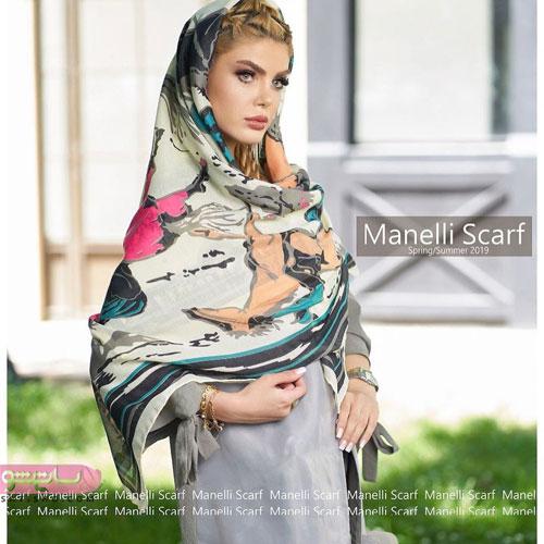 مدل روسری حریر و نقش دار مخصوص بانوان زیبا