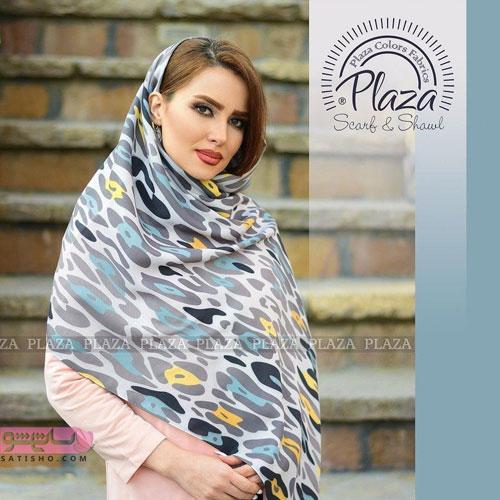 مدل روسری مجلسی زنانه برند معروف پلازا