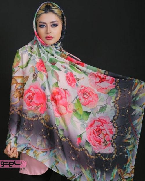 مدل شال مجلسی ابریشم گلدار زیباو لاکچری