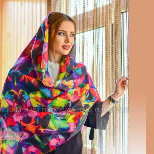 شال و روسری زنانه در رنگ های متنوع
