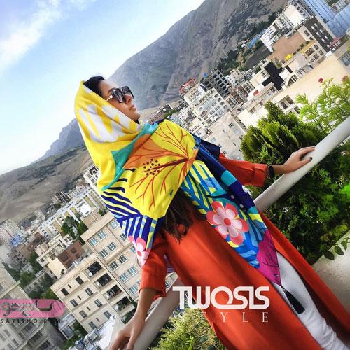مدل روسری قواره بزرگ مجلسی با رنگ های پرطرفدار