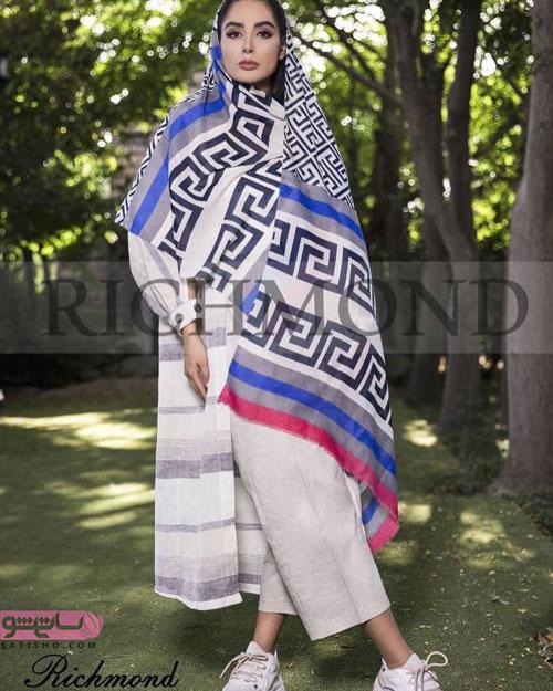 مدل روسری زیبا با ترکیب خوش رنگ