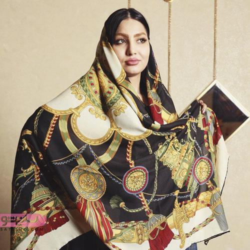 مدل روسری قواره بزرگ طراحی ایرانی