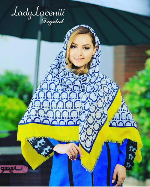 مدل روسری قواره دار هنری زیبا