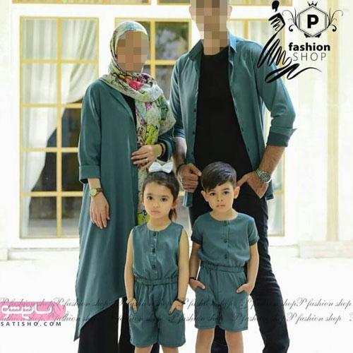 جدیدترین مدل ست های مانتو مادر و دختر 99