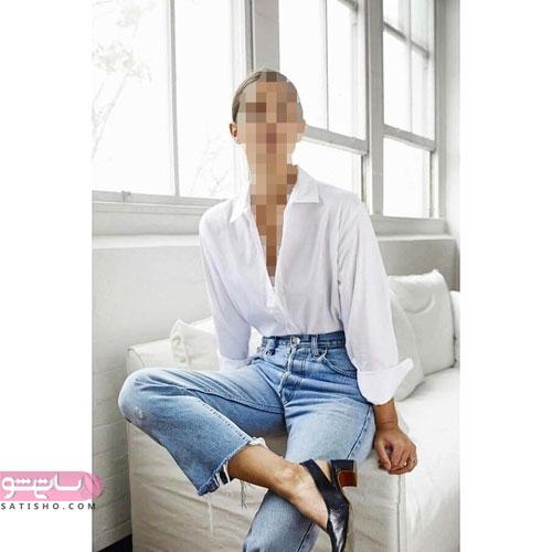 مدل شلوار جین طرح مام استایل