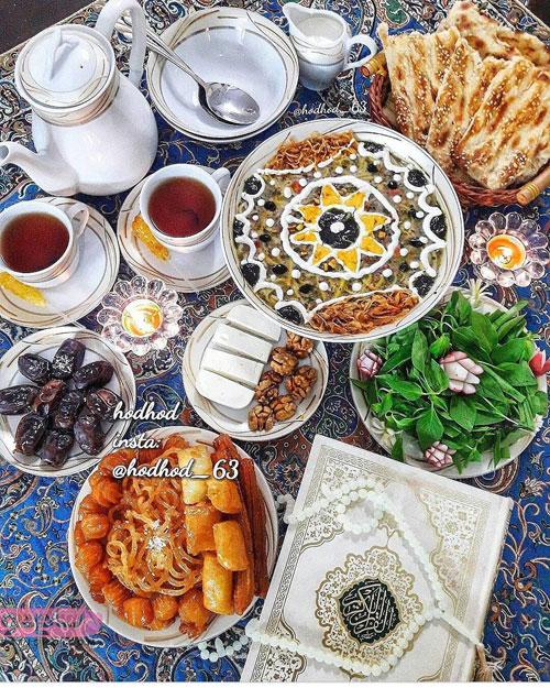 عکس آش رشته تزیینی برای افطاری ماه مبارک رمضان