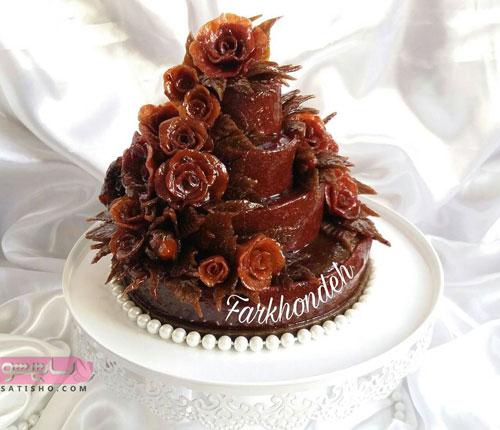 عکس لواشک تزیین شده به شکل کیک