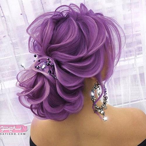 مدل موی عروس به رنگ بنفش ۲۰۱۹
