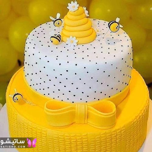 مدل تزیین کیک تولد دخترانه زنبور عسل