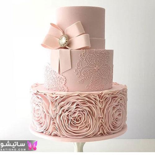 کیک تولد دخترانه جدید 98 با خامه