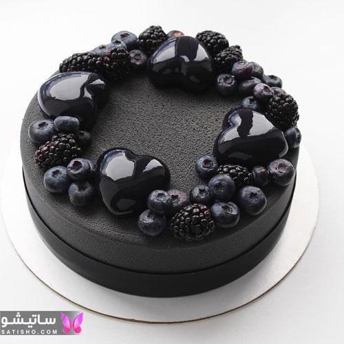 عکس کیک تولد سیاه