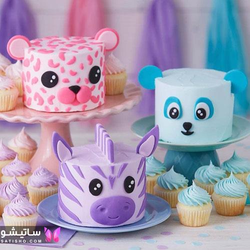 نمونه کیک به شکل حیوانات