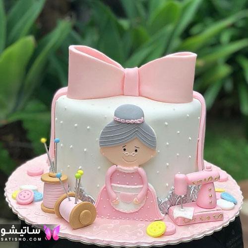 کیک تولد شیک و مجلسی برای مادربزرگ
