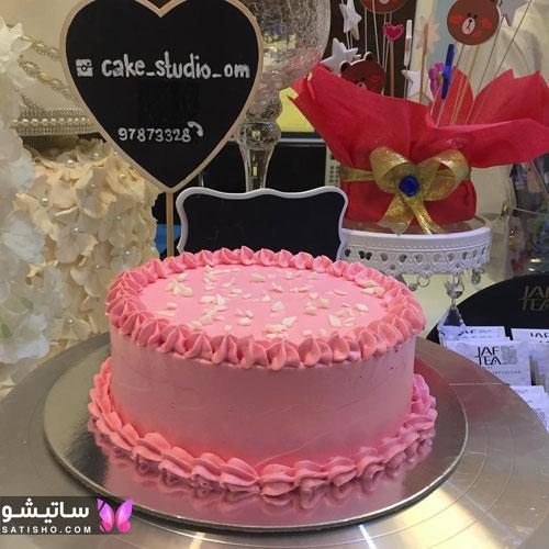 مدل تزیین ساده کیک تولد دخترانه