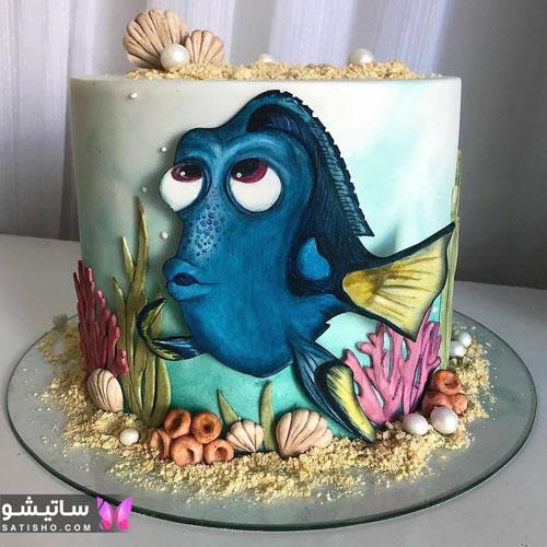 تزیین کیک تولد پسرانه با خامه