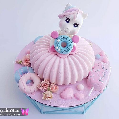 عکسهای تزیین کیک دخترانه