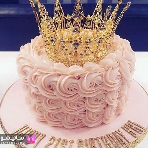 کیک دخترانه با طرح تاج