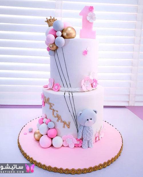 کیک چند طبقه تولد