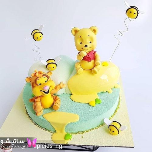 عکس کیک تولد ساده و شیک دخترونه