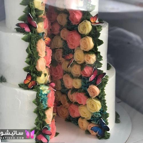 تزیین کیک چند طبقه برای ازدواج