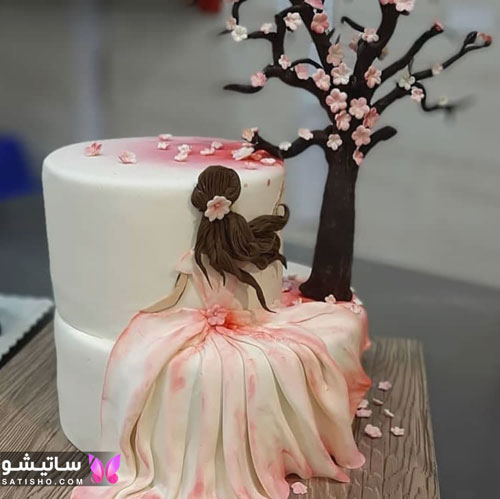 کیک تولد عاشقانه برای همسر