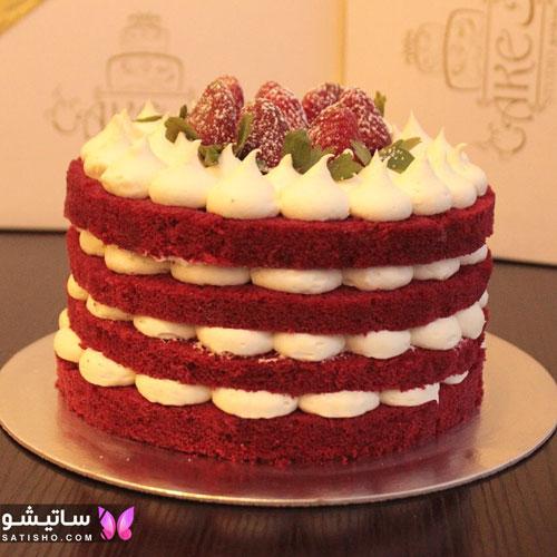 نمونه کیک تولد دخترانه چند لایه