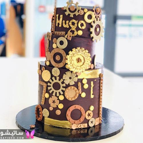 مدل کیک تولد زیبا چند طبقه ای