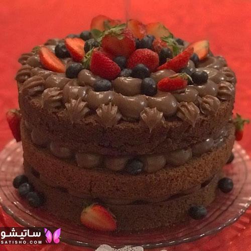 طرز تهیه کیک تولد شکلاتی