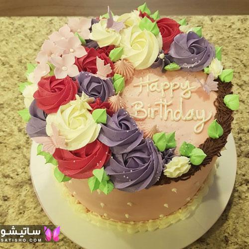تزیین کیک تولد ساده و زیبا دخترانه در منزل