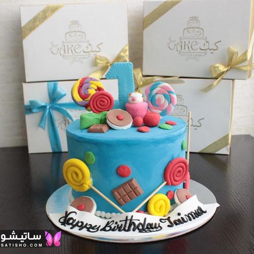 جدیدترین کیک تولد بچه گانه دخترانه 98