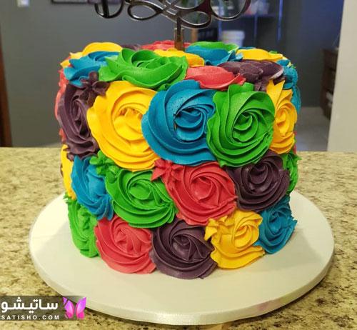 تزیین کیک تولد دخترانه در منزل