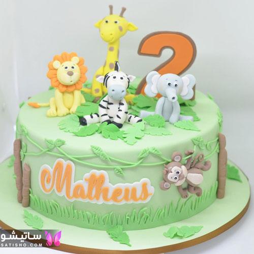 کیک تولد بچه گانه مناسب دو سال