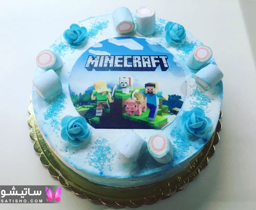 کیک تولد پسرانه عکس دار