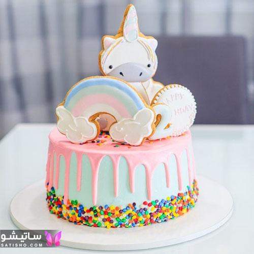 تزیین فانتزی کیک مناسب جشن تولد دخترانه