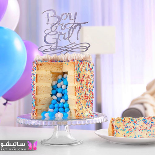 مدل کیک تولد دخترانه معمولی و ساده