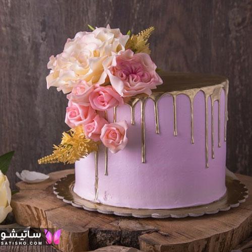 مدل های جدید کیک تولد دخترانه خامه ای