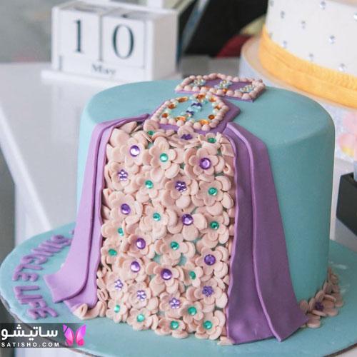 تزیین خوشگل کیک برای جشن تولد دخترانه
